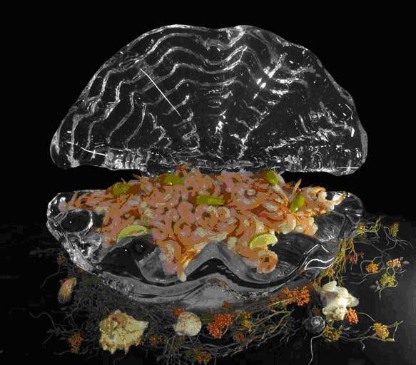 weird ice sculpture (Shell Salad Bowl)
